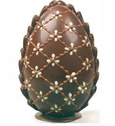 beautiful chocolate easter egg