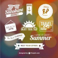 Summer graphic eleme