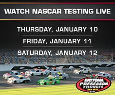 """Don't miss our live stream of Preseason Thunder!    """"LIKE"""" if you can't wait and """"SHARE"""" with your friends!    Stream >> http://www.talladegasuperspeedway.com/vanity-pages/2013/testing.aspx"""