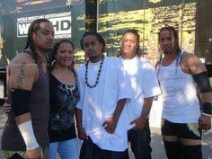Talisua Fatu with her four sons Joseph, Jeremiah, Joshua (Jey Uso), & Jonathan (Jimmy Uso)