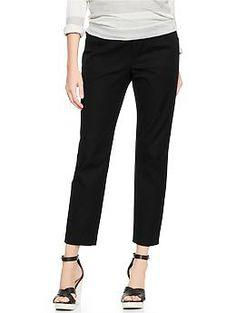 Demi panel slim cropped pants gap