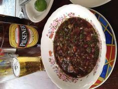 Black clam ceviche (ceviche de concha)