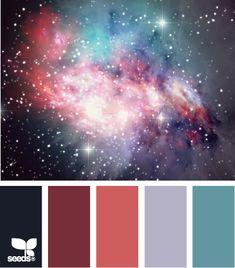 Color: Nebula Color by Design Seeds - indigo, deep raspberry, deep pink, lavender, teal.