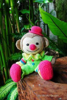 Payaso mono crochet