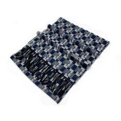 Buy mens autumn winter tartan houndstooth print tassel cashmere scarf pashmina blue MES0016