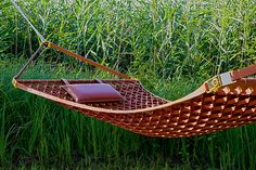 """Leather Hammock by Atelier Oi """"Objets Nomades"""" for Louis Vuitton"""
