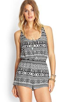 Tribal Print Crochet Romper | FOREVER21 #SummerForever