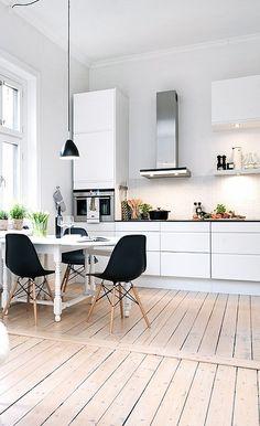 Via NordicDays.nl | White Alvhem Home | Kitchen | Eames