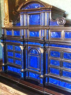 Lapis Lazuli secret drawer cabinet at Belton House