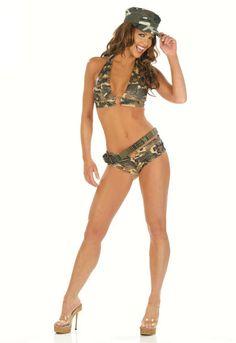 Army Shorts Set Costume