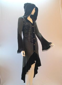 recycled sweater coat