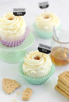 Lavender Earl Grey Cupcakes	 from BHG's Delish Dish Blog!