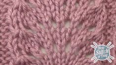 Example of the Ostrich Plume Stitch right side