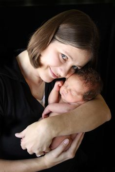 newborn and mom pose
