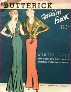 Butterick Fashion Book 1934