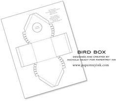 birdhouses, gift, printable templates, paper, boxes, bird box template, cake pop, box templates, bird hous