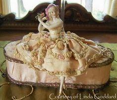 frau wulf, pincushion, boudoir doll, doll blog, vanities