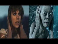 geeki, gollum cover, taylor swift videos, cover taylor, funni, knew, hobbit, gollum sing, taylors