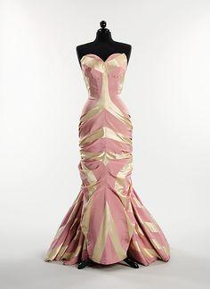 Dress, Evening  Elsa Schiaparelli (Italian, 1890–1973)  Date: ca. 1948 Culture: French Medium: silk