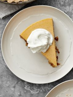 Pumpkin-Goat Cheese Cheesecake. Need we say more?
