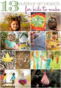 13 awesome outdoor projects kids can make