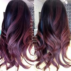 fall hair colors, violet, curly hair