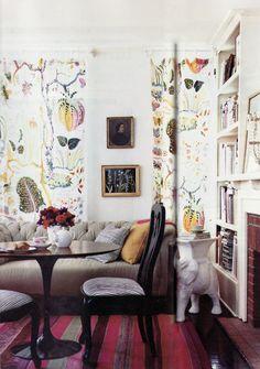 Josef Frank fabric curtains