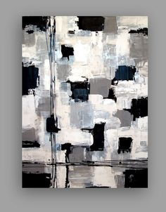 Black and White Acrylic Abstract Painting