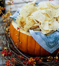 Pumpkin Serving Bowl -- for the overachievers. You know who you are!