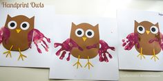handprint owls #halloween #kid #craft