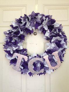 TSU instead! so cute  Decorative Spirit Wreath TCU by TLTwreaths on Etsy, $38.00
