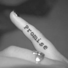 pinky promise. want this but in cursive!!