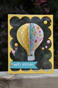 Hot air balloon on acetate card