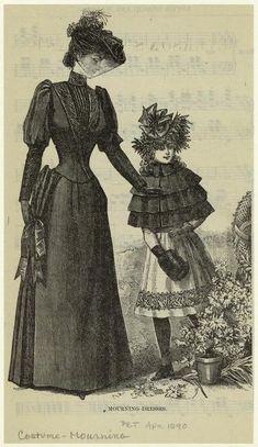 Mourning dresses, 1890