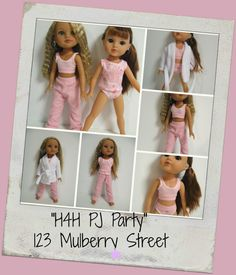 Hearts 4 Hearts Doll Clothes PJ Party 5 pc by 123MULBERRYSTREET, $26.00