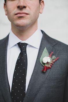 polka dot tie, photo by Jon Schaaf Photography http://ruffledblog.com/intimate-charlottesville-wedding #grooms #wedding