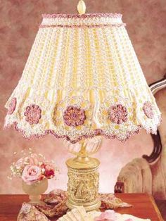 """Tasseled Lamp Shade - my lampshades could use a makeover but I'm kind of afraid I'm going to give my home """"an old lady"""" look - I guess I'll have to make one to see what the end result is - this one pictured is beautiful."""