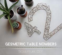 DIY Geometric Table Numbers
