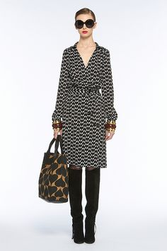 DVF wrap dress - her signature style
