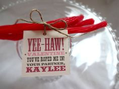 Valentine's Day. Kids Valentines. PRINTABLE Valentine Tags - Cowboy or Cowgirl on Etsy, $10.00