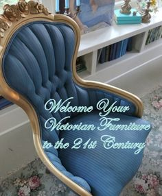 paint fabric with ASCP: How to Welcome Your Victorian Furniture into the 21st Century