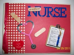 mini album for the nurse in your life..
