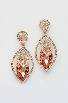 Rose Champagne Earrings.