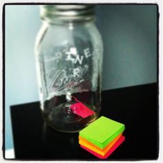 Happiness jar...write down each thing that brings you happiness throughout the year on a post it note and put it in a mason jar...then at the end of the year look back at everything that made you happy that year!!