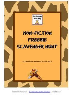 non-fiction scavenger hunt