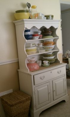 Great hutch and great display of vintage Pyrex! Love both!