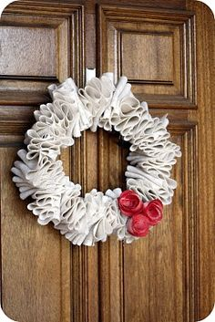 #burlap #wreath idea