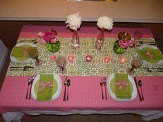 Pink and Green Table Setting-Weddingistas
