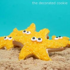 super easy starfish cookies | The Decorated Cookie