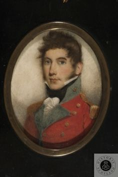 Miniature of Lieutenant Colonel James Ferrier of 94th Foot Regiment (Scots Brigade)